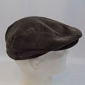 Other - Vintage Brown Corduroy Cabbie Hat Cap Ear Flaps